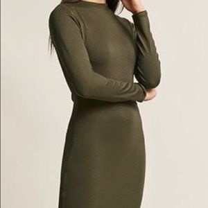 Dresses & Skirts - Olive green bodycon dress